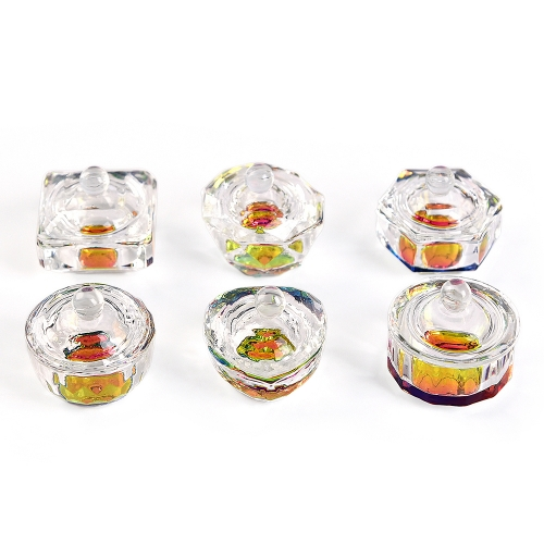 KADS Nail Art Glass Jars Color Dappen Dish 410153